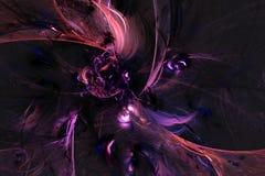 Abstract fractal geïllustreerd achtergrond teruggegeven behang Stock Fotografie