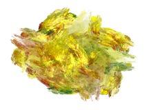 Abstract fractal geel chaotisch patroon Royalty-vrije Stock Fotografie