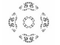 Abstract fractal with gray pattern. On white background Stock Images