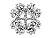 Abstract fractal with gray pattern. On white background Stock Photography