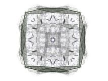 Abstract fractal with gray pattern. On white background Royalty Free Stock Photography