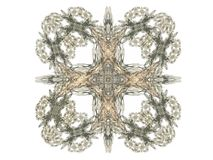 Abstract fractal with gray pattern. On white background Royalty Free Stock Image