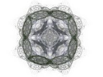 Abstract fractal with gray pattern. On white background Royalty Free Stock Photos