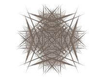 Abstract fractal with gray pattern. On white background Royalty Free Stock Images