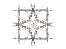 Abstract fractal with gray pattern. On white background Royalty Free Stock Photo