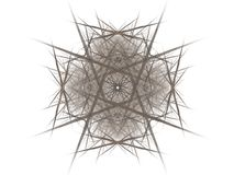 Abstract fractal with gray pattern. On white background Stock Photo