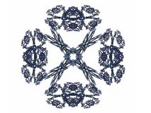 Abstract fractal with gray pattern. On white background Stock Photos