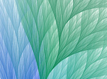 Abstract fractal green and blue leafs background. Stock Photo