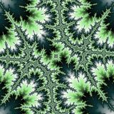 Abstract fractal green clover vector illustration