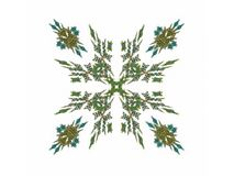 Abstract fractal with a green pattern. On a white background Vector Illustration