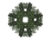 Abstract fractal with a green pattern. On a white background Royalty Free Illustration