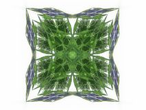 Abstract fractal with a green pattern. On a white background Stock Illustration