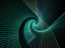 Abstract fractal green shape Stock Images