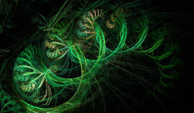 Abstract fractal green shape Royalty Free Stock Photo