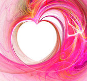 Abstract fractal heart. An abstract fractal heart rendering royalty free illustration