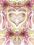 Abstract fractal heart. Digital artwork for creative graphic design Royalty Free Stock Image