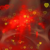 Abstract fractal heart bokeh generated background Stock Photography