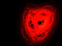 Abstract fractal heart Stock Image
