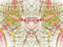 Abstract fractal heart pattern. Digital artwork for creative graphic design stock illustration