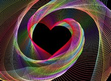 An abstract fractal heart-shaped background Royalty Free Stock Photography