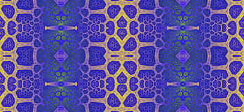Abstract fractal high resolution seamless pattern for carpets, tapestries, fabric and wallpapers or any creative other use Royalty Free Stock Image