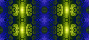 Abstract fractal high resolution seamless pattern for carpets, tapestries, fabric, and wallpapers in shining colors Stock Images