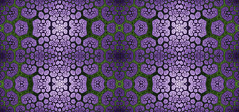 Abstract fractal high resolution seamless pattern for carpets, tapestries, fabric, and wallpapers in shining colors Stock Photography