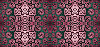 Abstract fractal high resolution seamless pattern for carpets, tapestries, fabric, and wallpapers in shining colors Royalty Free Stock Images
