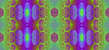 Abstract fractal hoge resolutie naadloos patroon voor tapijten, tapijtwerk, stof, en behang in heldere levendige kleuren Stock Afbeelding