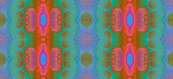 Abstract fractal hoge resolutie naadloos patroon voor tapijten, tapijtwerk, stof, en behang in heldere levendige kleuren stock illustratie