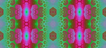 Abstract fractal hoge resolutie naadloos patroon voor tapijten, tapijtwerk, stof, en behang in heldere levendige kleuren Stock Fotografie