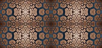 Abstract fractal hoge resolutie naadloos patroon voor tapijten, tapijtwerk, stof, en behang in het glanzen kleuren Stock Foto's