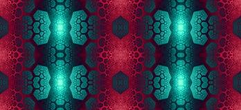 Abstract fractal hoge resolutie naadloos patroon voor tapijten, tapijtwerk, stof, en behang in het glanzen kleuren Royalty-vrije Stock Afbeeldingen