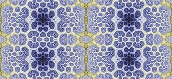 Abstract fractal hoge resolutie naadloos patroon voor tapijten, tapijtwerk, stof en behang of om het even welke creatief ander ge vector illustratie