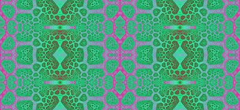 Abstract fractal hoge resolutie naadloos patroon voor tapijten, tapijtwerk, stof en behang of om het even welke creatief ander ge Stock Afbeelding