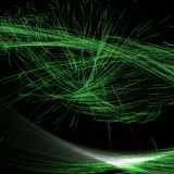 Abstract Fractal Illumination using green coloured lines and curves vector illustration