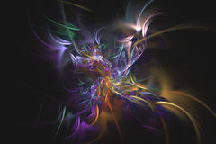 Abstract fractal illustrated background rendered wallpaper Royalty Free Stock Images