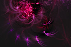 Abstract fractal illustrated background rendered wallpaper Stock Image