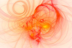 Abstract fractal illustrated background rendered wallpaper Royalty Free Stock Image