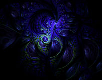 Abstract fractal image. On the black background Stock Photography