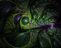 Abstract fractal image. On the black background Royalty Free Stock Photography