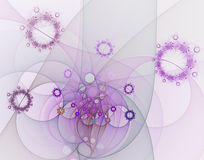 Abstract fractal image. On the white background Royalty Free Stock Photo