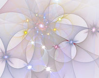 Abstract fractal image. On the white background Stock Photos