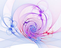 Abstract fractal image. On the white background Royalty Free Stock Photos