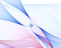 Abstract fractal image. On the white background Royalty Free Stock Photography