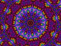 fractal kaleidoscope royalty free illustration