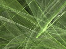 Abstract fractal with light green curved lines and waves Stock Images