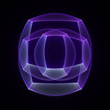Abstract fractal magic color shape Royalty Free Stock Images