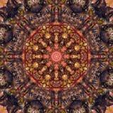 Abstract fractal mandalabeeld vector illustratie