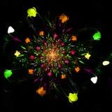 Abstract fractal mooi bloem door de computer geproduceerd beeld Vector Illustratie